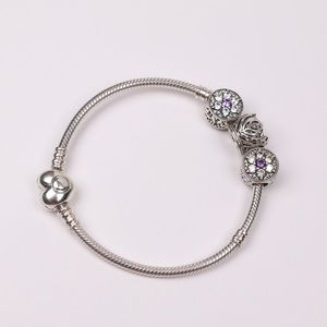 Beautiful Sterling Silver Heart PANDORA Bracelet